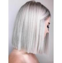 Nagyon világos ezüst szürke haj készítés roncsolás nélkül szett KINBLOND5