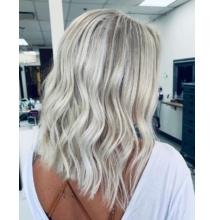 Szőke haj készítés roncsolás nélkül és hamvasító hajápoló szett KINBLOND3